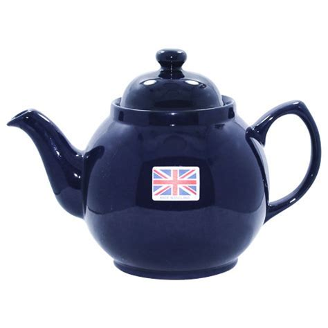 Blue Color Brown Betty Teapot, 4 Cups