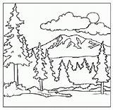 Coloring Mountain Pages Mountains Scenery Printable Children Forest Adult Smoky Landscape Scene Print Sky Colouring Sheets Drawing Desert Bernese Clipart sketch template