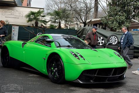 Lime Green Pagani Huayra Spotted In Modena