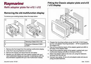 Raymarine C12  E12 Mounting Adaptor Kit For C120  E120 Cutout