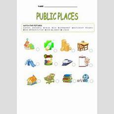 English Worksheets Public Places