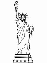 Liberty Statue Coloring Pages Drawing Printable Memorial Clip Cartoon Clipart Sheet Theme Dessin Children Template Sketches Monuments Google Books Cliparts sketch template