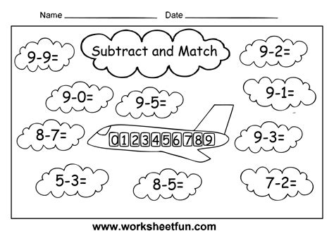st grade math worksheets basic subtraction facts
