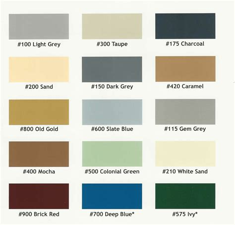 epoxy paint colors chart coating colors polymer and epoxy