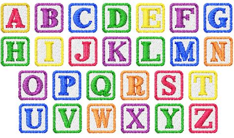 home format fonts embroidery font baby block  machine