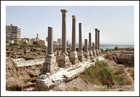 Roman Colonnades Tyre Lebanon, A Photo From Liban-sud