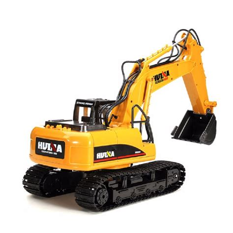 Harga Rc Excavator Metal remote huina 1550 15 channel metal excavator