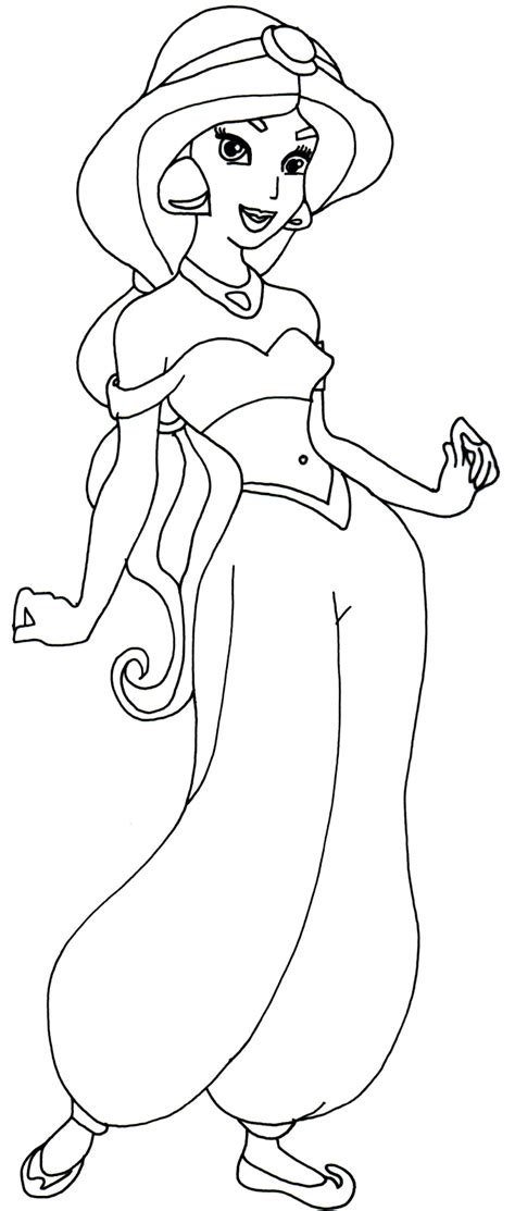 princess jasmine coloring pages    print