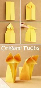 Origami Für Anfänger : origami fuchs falten leichte anleitung f r anf nger mit ~ A.2002-acura-tl-radio.info Haus und Dekorationen