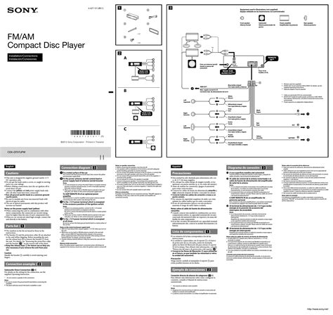 free car stereo wiring diagrams sony cdx 5180 wiring diagram database