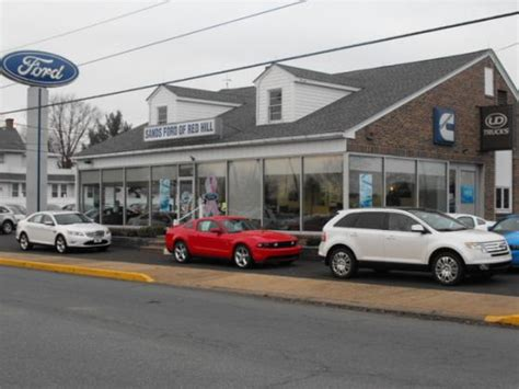 sands ford  red hill  main st red hill pa auto body