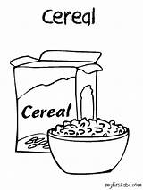 Cereal Coloring Pages Drawing Clipart Box Printable Bowl Oats Template Cornflakes Oatmeal Open Drawings Sketch Getcolorings Preschool Paintingvalley Webstockreview Google sketch template