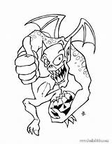 Coloring Monster Pages Creepy Scary Dragon Monsters Printable Getcolorings sketch template