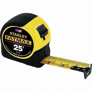 Stanley Fat Max Measuring Tape  U2014 25ft   Model  33