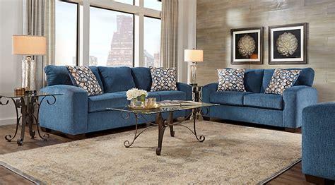 leather sofa set lucan navy 5 pc living room living room sets blue