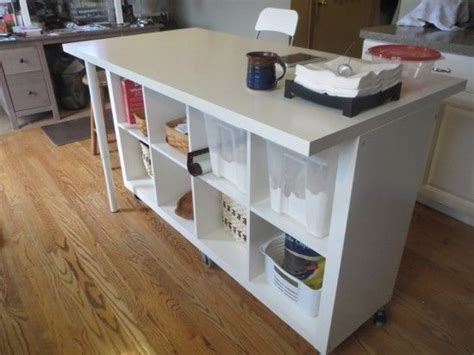 sur la table kitchen island extendable kitchen island using expedit and linmon ikea 8414