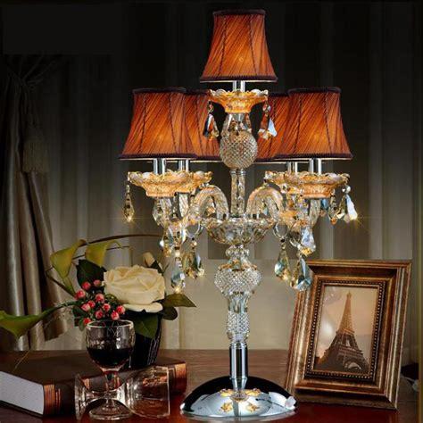 shipping large wedding candelabra lamp crystal table lamp  lampshade led desk lamp big