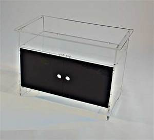 Petit Meuble Noir : meuble tv hifi plexi ~ Teatrodelosmanantiales.com Idées de Décoration