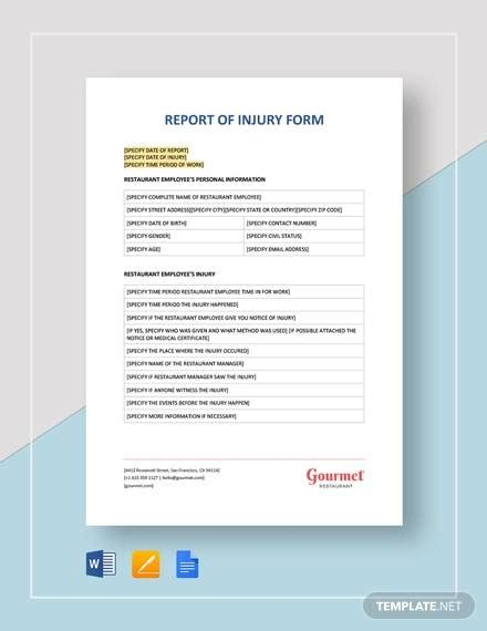 sample accident incident reports docs  pages