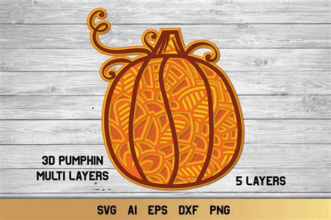 Great for cricut design space, silhouette cameo, clipart, scrapbooking and other crafting projects. 3D Layered Pumpkin SVG   Fall Multi Layer  Autumn Cut File ...