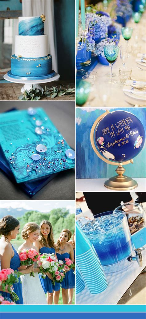 wedding decoration with blue color the best shades of blue wedding color ideas for 2017 stylish wedd blog