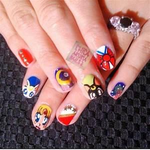 Sailor moon nails #sailormoon | Nails | Pinterest