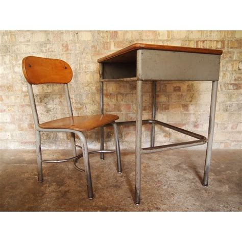 Vintage School Desk And Chair by Vintage School Desk And Chair