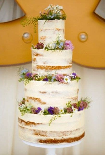 delicious semi naked wedding cakes weddingomania
