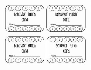 Behavior punch cards images for Free printable punch card template