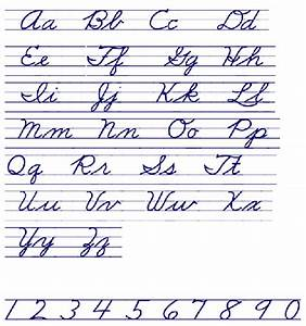 cursive handwriting chart free download With cursive letter alphabet chart