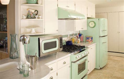 retro pastel mint green kitchen pictures