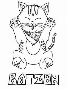 Ausmalbilder, Katzen, 13
