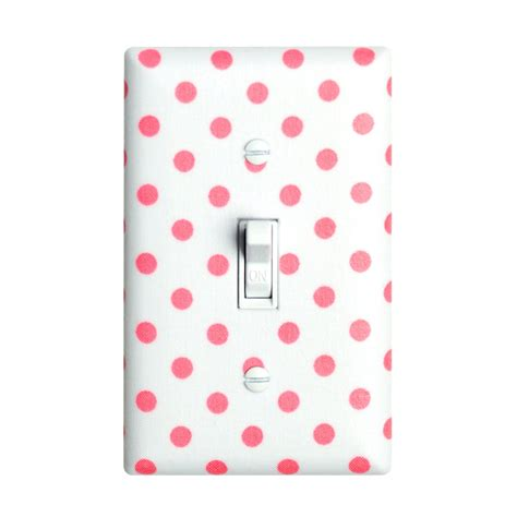 light switch covers for girls district17 pink and white dots light switch plate cover