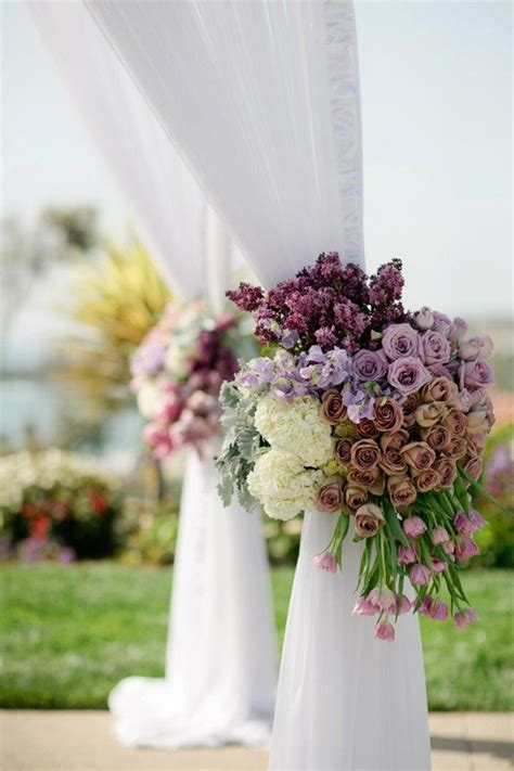 wedding ceremony flowers belle  magazine