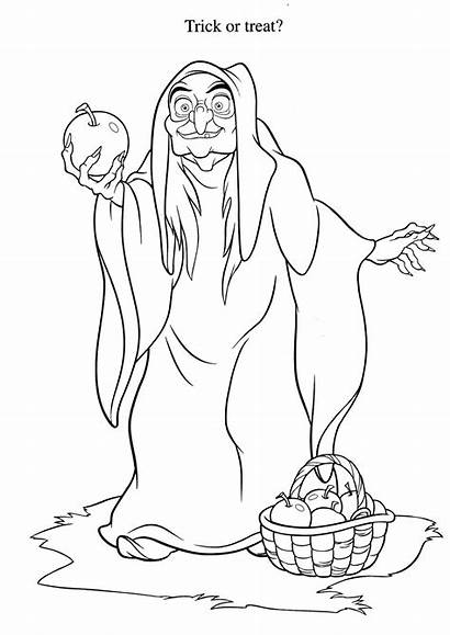 Coloring Evil Witch Pages Snow Queen Printable
