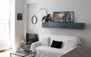 le shabby chic contemporain d39un appartement parisien With tapis de couloir avec canapé convertible style romantique