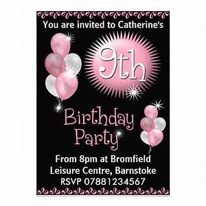 17 Best images about 9th Birthday Party Invitations on ...