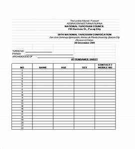 attendance lists templates samples and templates With meeting attendance list template