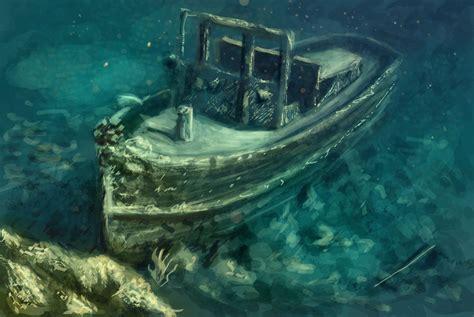 Boat Graveyard In Spanish by Sunken Ship By Elufie On Deviantart
