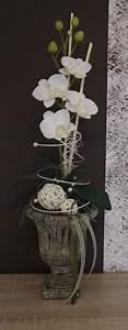 Orchideen Im Glas Dekorieren : orchideengesteck gesteck in wei ebay deko ~ Watch28wear.com Haus und Dekorationen