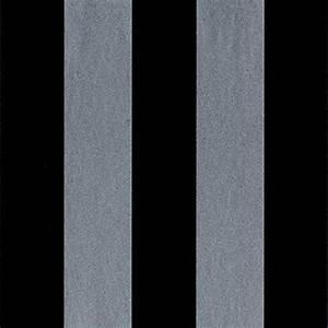 Papier Peint Rayé : sy33910 galerie rayures 2 noirs gris metallise papier peint raye papier peint t te de lit ~ Melissatoandfro.com Idées de Décoration