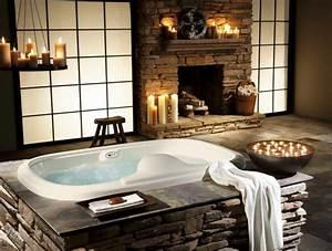 Quelques idees pour la deco salle de bain zen for Salle de bain design avec bougie décorative oriental