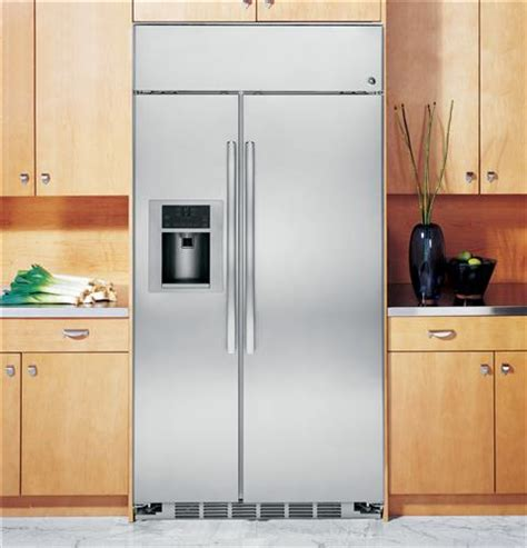 ge profile series  built  stainless side  side refrigerator psbyshss ge appliances