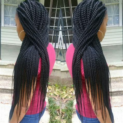 Black Hair Rope Twists Braids   hairstylegalleries.com