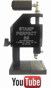 stamp perfect jewelry marking machine With letter stamping press