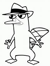 Platypus Perry Agent Coloring Pages Clipart Sneaking Printable Around Print Gambar Colouring Phineas Ferb Stencil Hd Stencils Drawing Colour Supercoloring sketch template