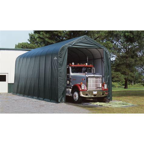 shelter garage shelterlogic peak style garage storage shelter 36ft l x