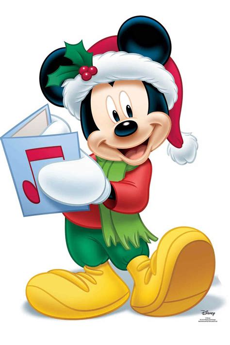 mickey mouse christmas carol official disney cardboard cutout