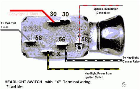 1970 vw beetle headlight switch wiring diagram thesamba com beetle late super 1968 up view topic headlight switch 1970 bug help