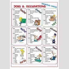Jobs & Occupations Speaking Cards Worksheet  Free Esl Printable Worksheets Made By Teachers